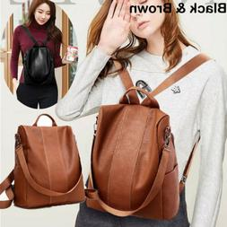 Women Real Soft Leather Shoulder Bags Ladies Backpack Handba