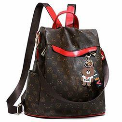 Women's Backpack Purse Nylon Anti-theft Waterproof Casual Ru