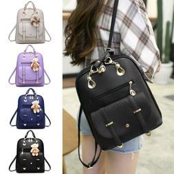 Women's Backpack Travel PU Leather Handbag Satchel Rucksack