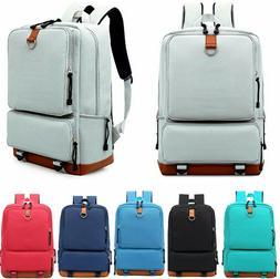 Women Canvas Backpack School Travel Rucksack Laptop Satchel