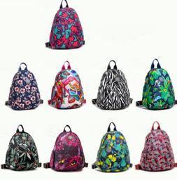 Women's Casual Floral Printed Canvas Backpacks for Travel Da
