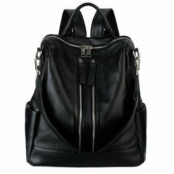 Yaluxe Women'S Convertible Real Leather Backpack Versatile S