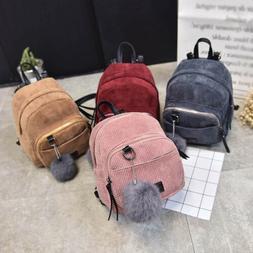 Women's Mini Backpack Girl School Shoulder Bag Rucksack Cord
