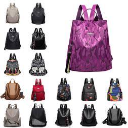 Women Waterproof Oxford Cloth Travel Backpack Nylon Anti-the