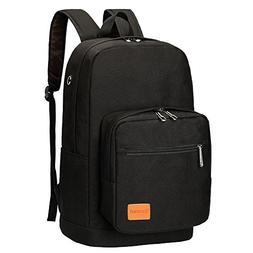 Swacort Lightweight Canvas Backpack School Bag Travel Daypac