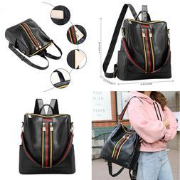 Womens Leather Backpack Purse Sling Shoulder Bag Handbag 3 i