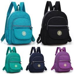Womens Nylon Backpacks Mini Small Travel Shoulder Rucksack H