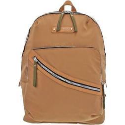 Adrienne Vittadini Womens Tan Nylon Adjustable Backpack Athl
