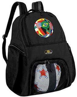 World Flag Soccer Ball Ball Backpack World Flag Soccer Socce