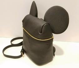 Disney X Typo Mickey Mouse Micro Backpack Black Faux Leather