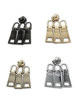 16pcs Zipper Pulls Universal Zipper Repair Parts Replacement